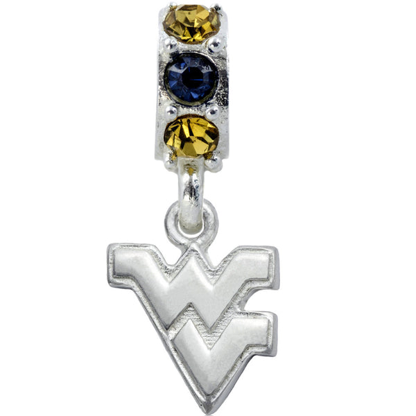 Collegiate University of West Virginia Colorful Spirit Slider Bead