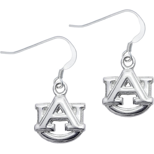 Sterling Silver Collegiate Logo Auburn Dangle Earrings