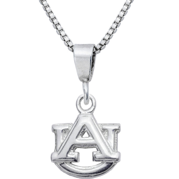 Sterling Silver Charm Collegiate Auburn Necklace