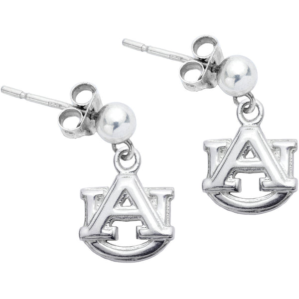 Sterling Silver Collegiate Auburn Dangle Stud Earrings