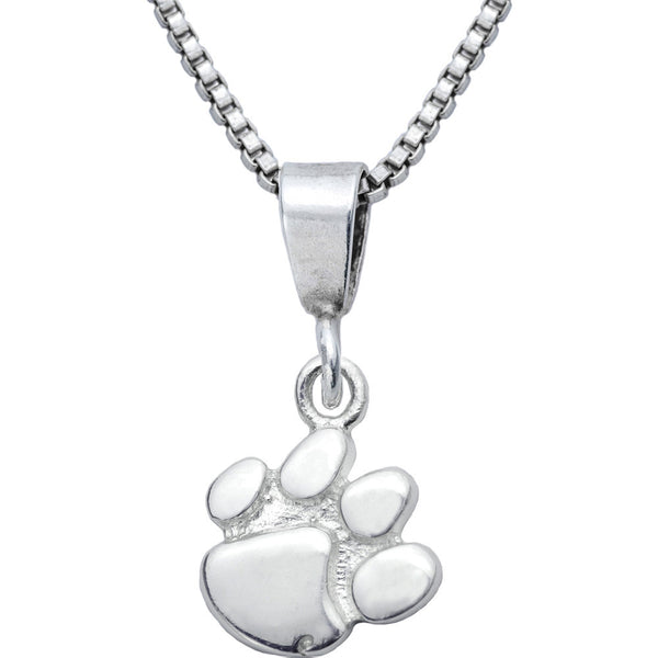Sterling Silver Charm Collegiate Clemson Necklace