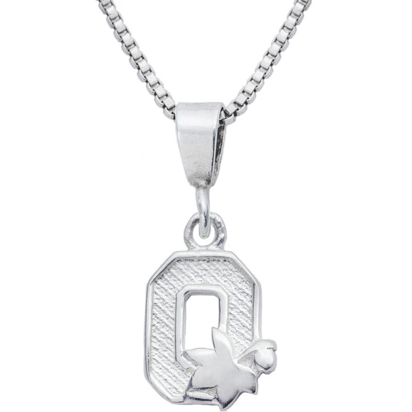 Sterling Silver Charm Collegiate Ohio State Necklace