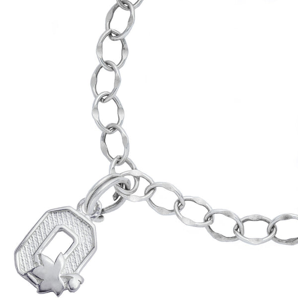 Sterling Silver Collegiate Ohio State Charm Bracelet