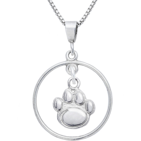 Sterling Silver Open Drop Collegiate Penn State Necklace