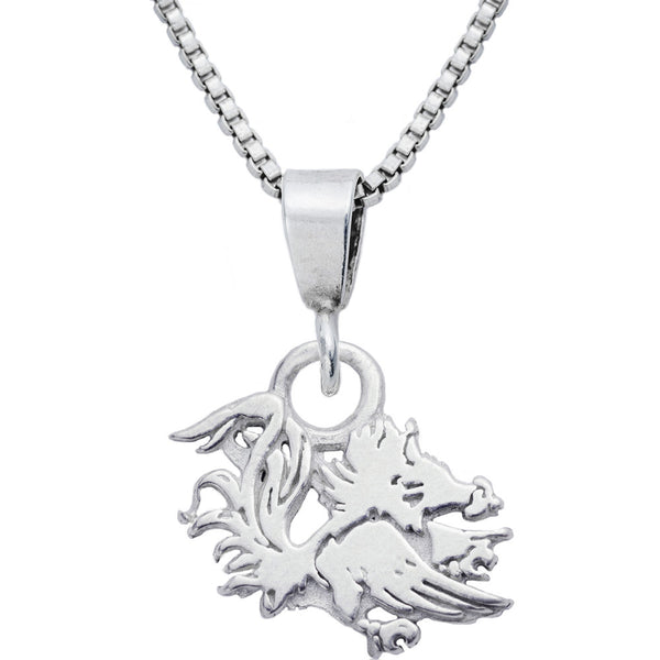 Sterling Silver Charm Collegiate South Carolina Necklace