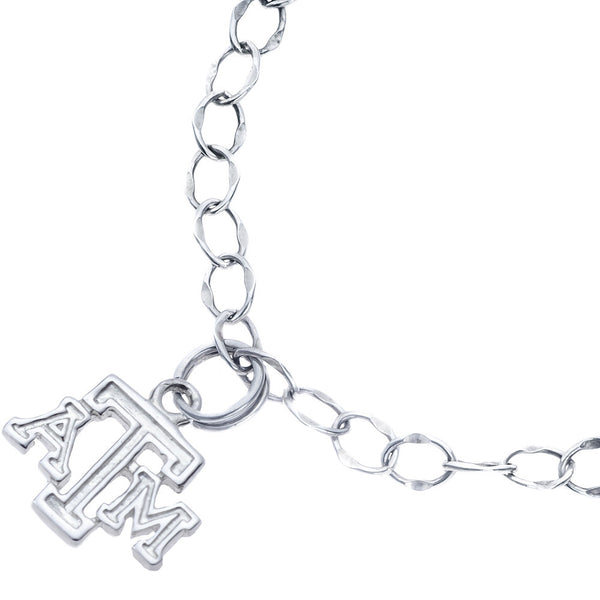 Sterling Silver Collegiate Texas A&M Charm Bracelet
