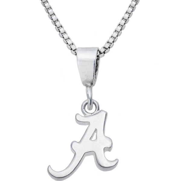 Sterling Silver Charm Collegiate Alabama Necklace