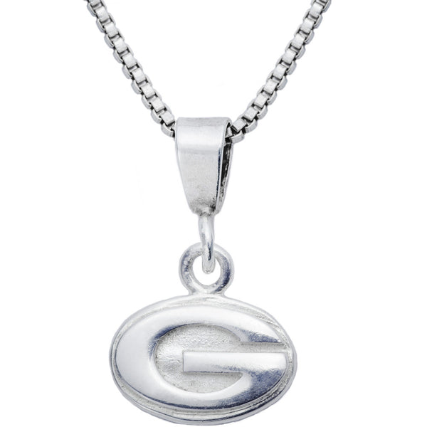 Sterling Silver Charm Collegiate Georgia Necklace