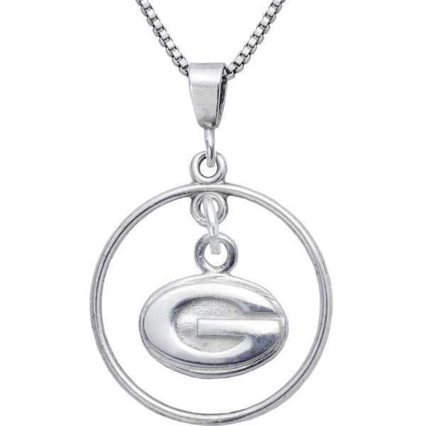 Sterling Silver Open Drop Collegiate Georgia Necklace