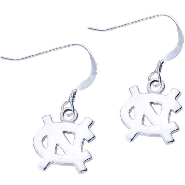 Sterling Silver Collegiate UNC Dangle Earrings