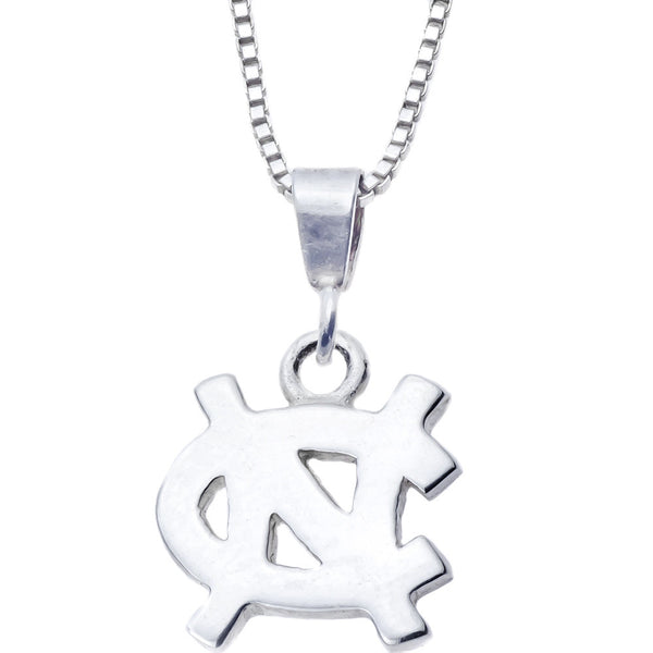Sterling Silver Charm Collegiate UNC Necklace