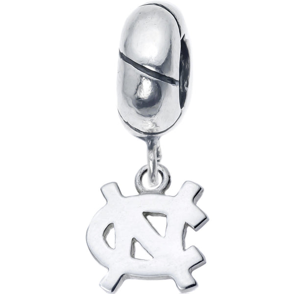 Sterling Silver UNC Charm Slider Bead
