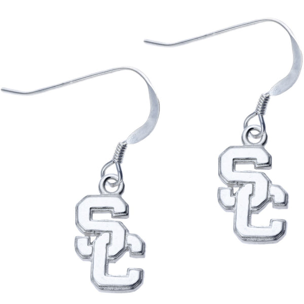 Sterling Silver Collegiate USC Dangle Earrings