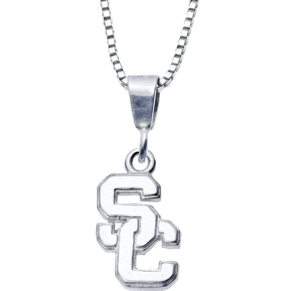 Sterling Silver Charm Collegiate USC Necklace