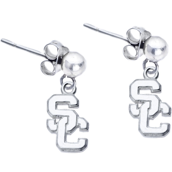 Sterling Silver Collegiate USC Dangle Stud Earrings