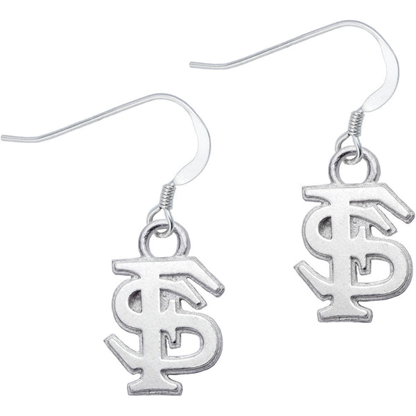 Sterling Silver Collegiate Florida State Dangle Earrings
