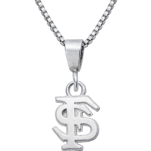 Sterling Silver Charm Collegiate Florida State Necklace