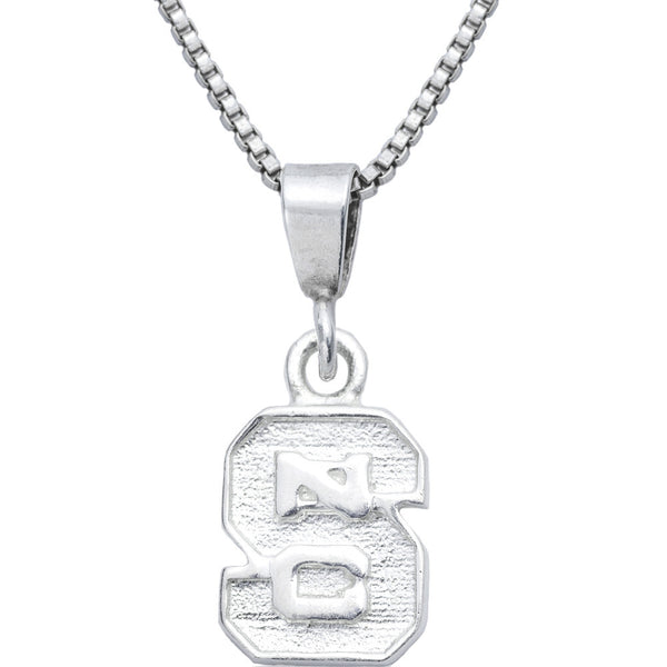 Sterling Silver Charm Collegiate NC State Necklace