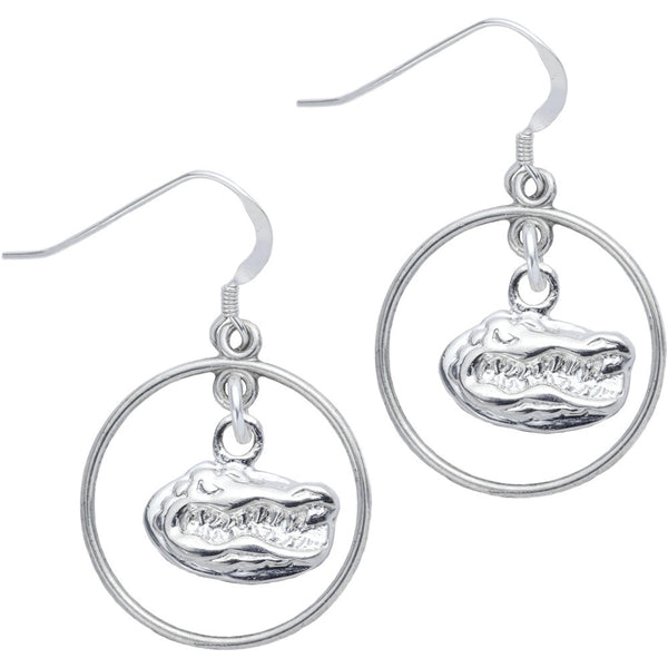 Sterling Silver Collegiate Florida Open Drop Earrings