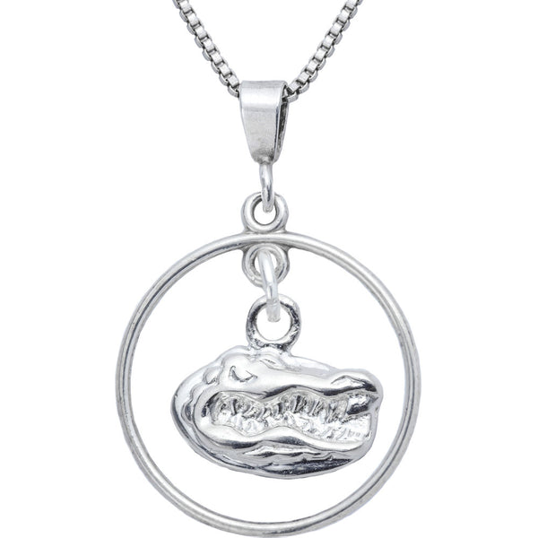 Sterling Silver Open Drop Collegiate Florida Necklace