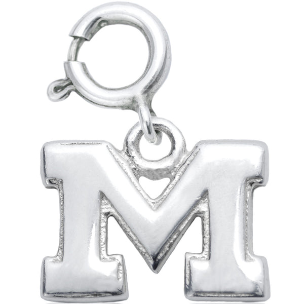 Sterling Silver Collegiate Michigan Wolverines Charm