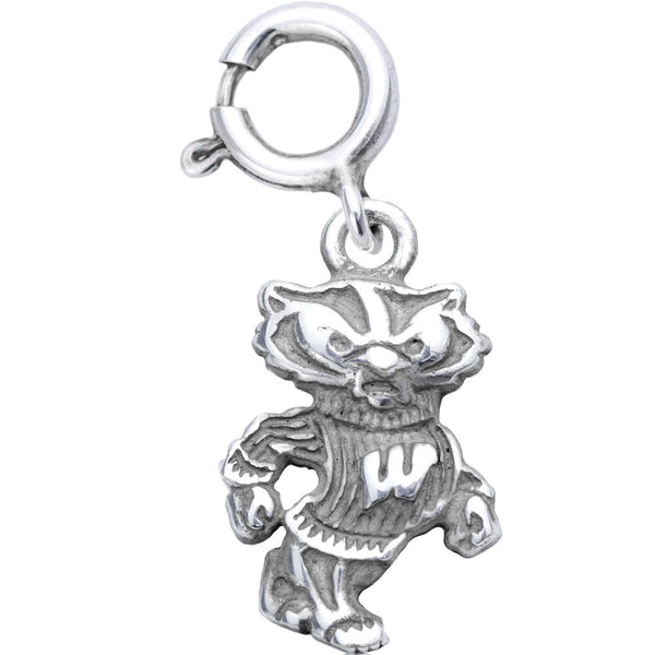 Sterling Silver Collegiate Wisconsin Badgers Charm