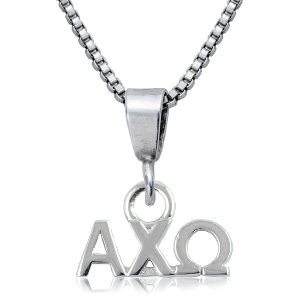 Sorority Alpha Chi Omega Sterling Silver Necklace