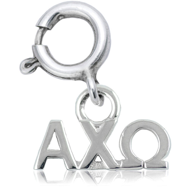 Sorority Alpha Chi Omega Charm in Sterling Silver