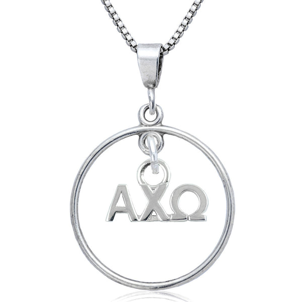 Sorority Alpha Chi Omega Open Drop Necklace