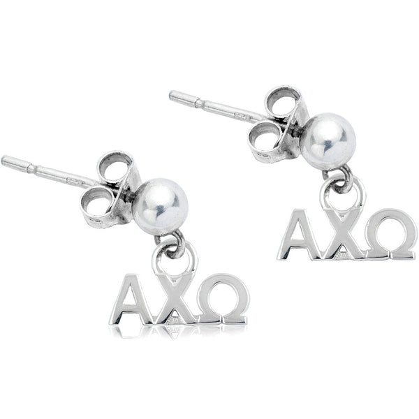 Sorority Alpha Chi Omega Post Dangle Earrings