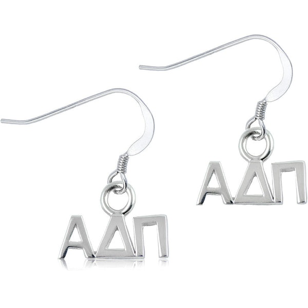 Sorority Alpha Delta Pi Sterling Silver Dangle Earrings