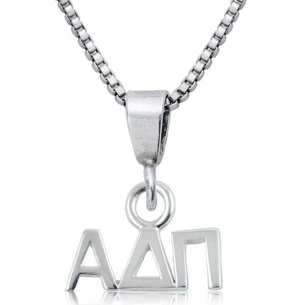 Sorority Alpha Delta Pi Sterling Silver Necklace