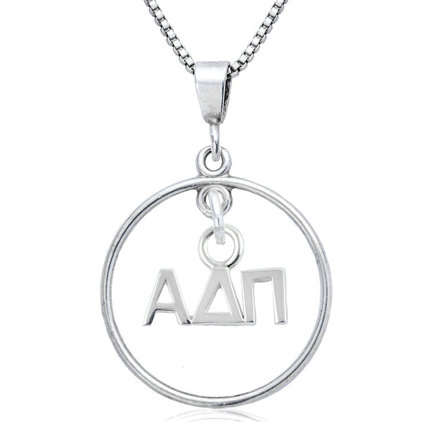 Sorority Alpha Delta Pi Open Drop Necklace