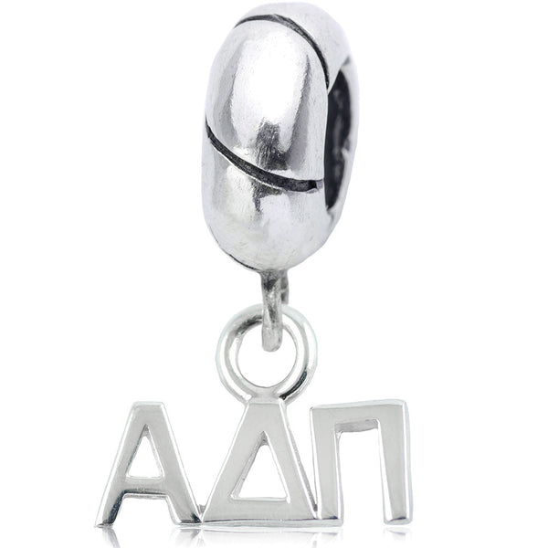 Sorority Alpha Delta Pi Sterling Silver Slider Bead
