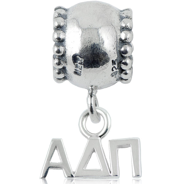 Sorority Alpha Delta Pi Daisy Sterling Silver Slider Bead