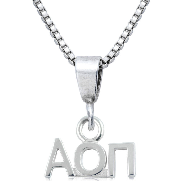 Sorority Alpha Omicron Pi Sterling Silver Necklace