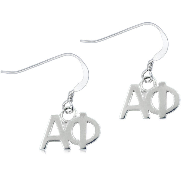 Sorority Alpha Phi Sterling Silver Dangle Earrings