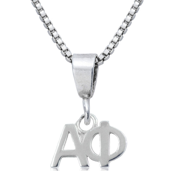 Sorority Alpha Phi Sterling Silver Necklace