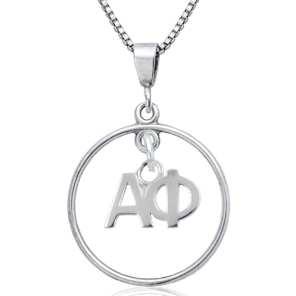 Sorority Alpha Phi Open Drop Necklace