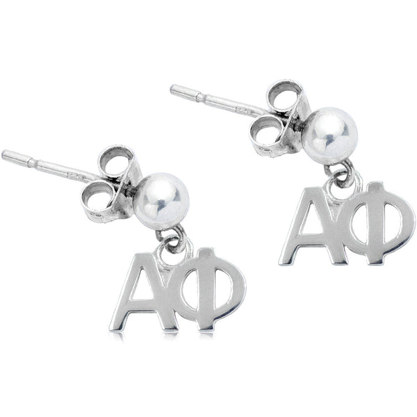 Sorority Alpha Phi Post Dangle Earrings