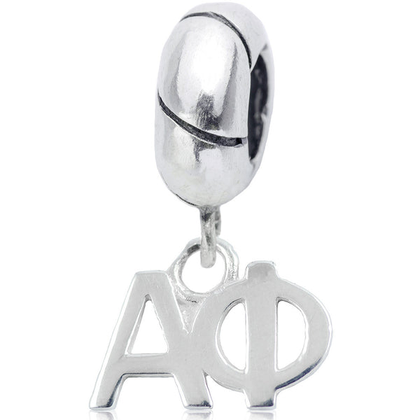 Sorority Alpha Phi Sterling Silver Slider Bead