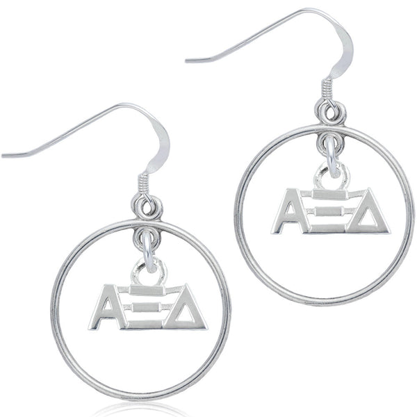 Sorority Alpha Xi Delta Open Drop Earrings