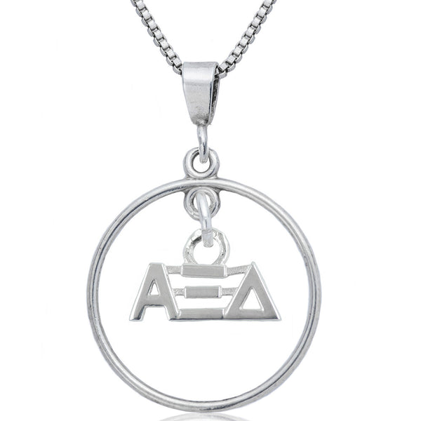 Sorority Alpha Xi Delta Open Drop Necklace