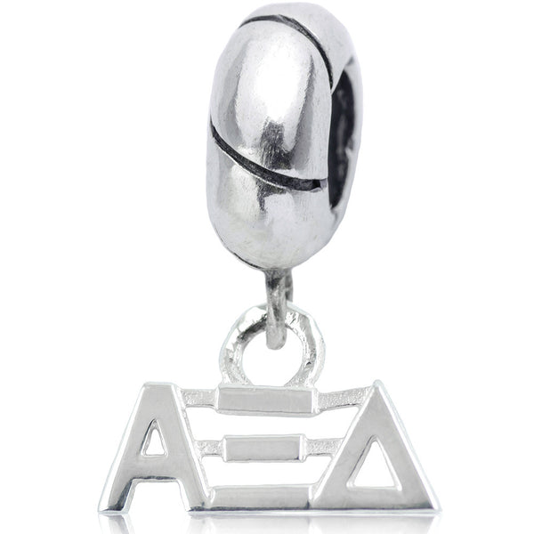 Sorority Alpha Xi Delta Sterling Silver Slider Bead