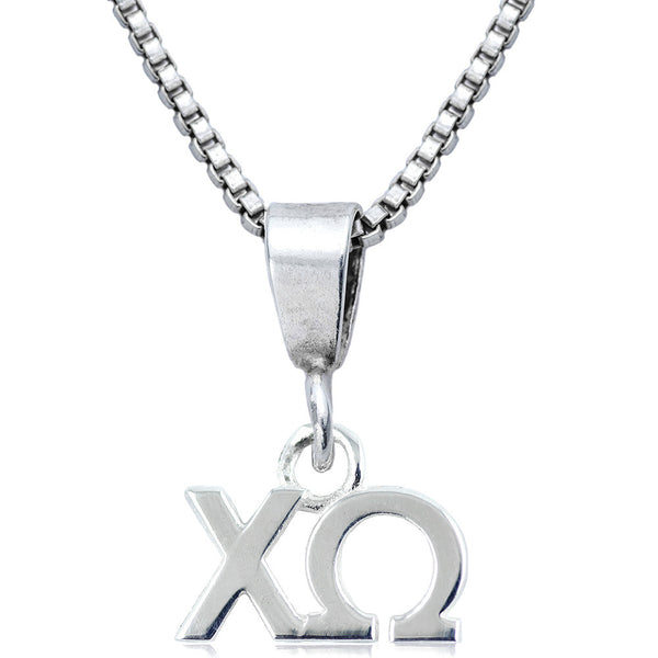 Sorority Chi Omega Sterling Silver Necklace