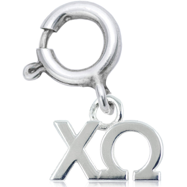 Sorority Chi Omega Charm in Sterling Silver