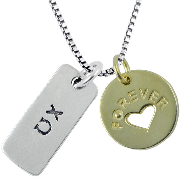 Sorority Chi Omega Forever Tag Necklace