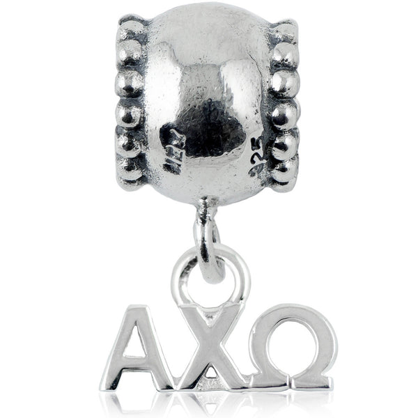 Sorority Chi Omega Daisy Sterling Silver Slider Bead