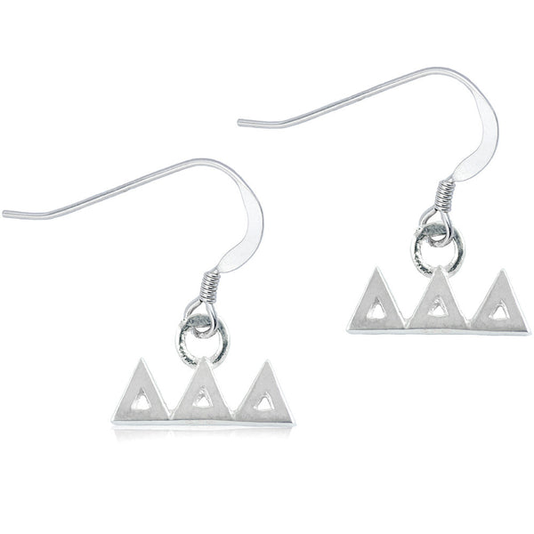 Sorority Delta Delta Delta Sterling Silver Dangle Earrings