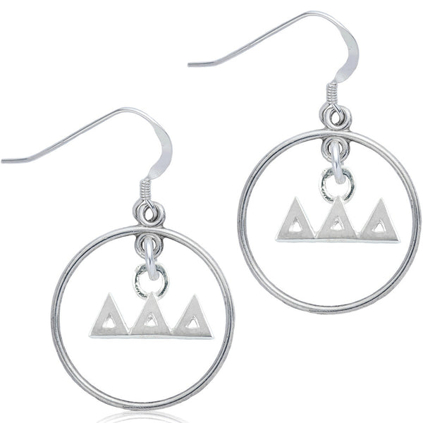 Sorority Delta Delta Delta Open Drop Earrings